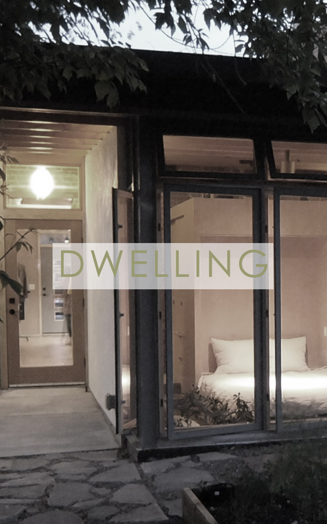 Dwelling - We work within the grain of small square footages, obdurate structural elements, and sensitive neighborhood contexts. In all cases, we seek an architecture that is rooted in its place: responsive to climate, reflective of context, both fitting-in but also making the surroundings clearer and more meaningful than they were before. Our design is contemporary, but contemporary in a way that enriches a historic context.Featured Project: Baker Neighborhood Live-WorkSize: 660 sf renovation, 240 sf additionBudget: $220kCompletion: 2013more>