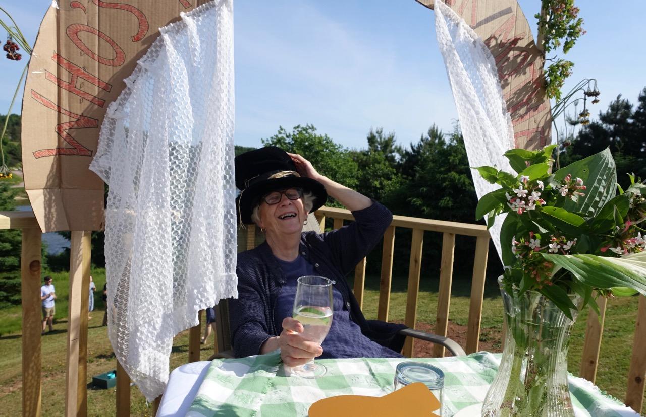 Catherine Hennessey, gin in hand, gleefully spills Island secrets