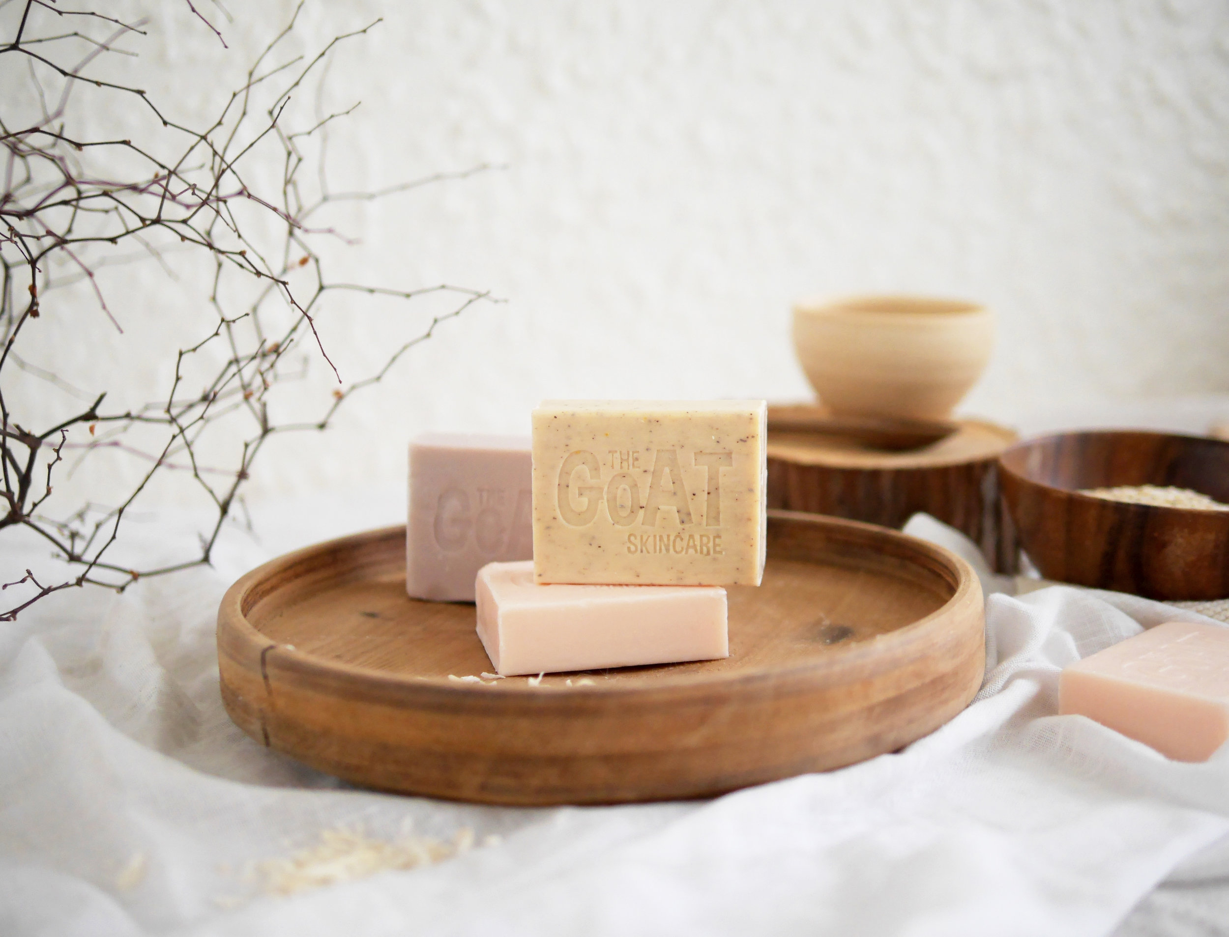 beauty bar soap creatively styled product photography