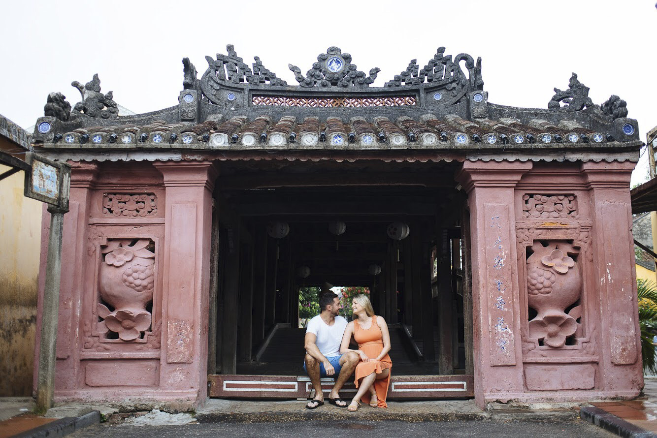 Creatively Squared founders Ruth and Scott on holiday in Hoi An, Vietnam