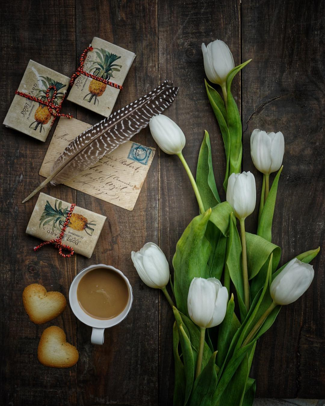 Coffee, cookies and flowers by Joe Oetemo