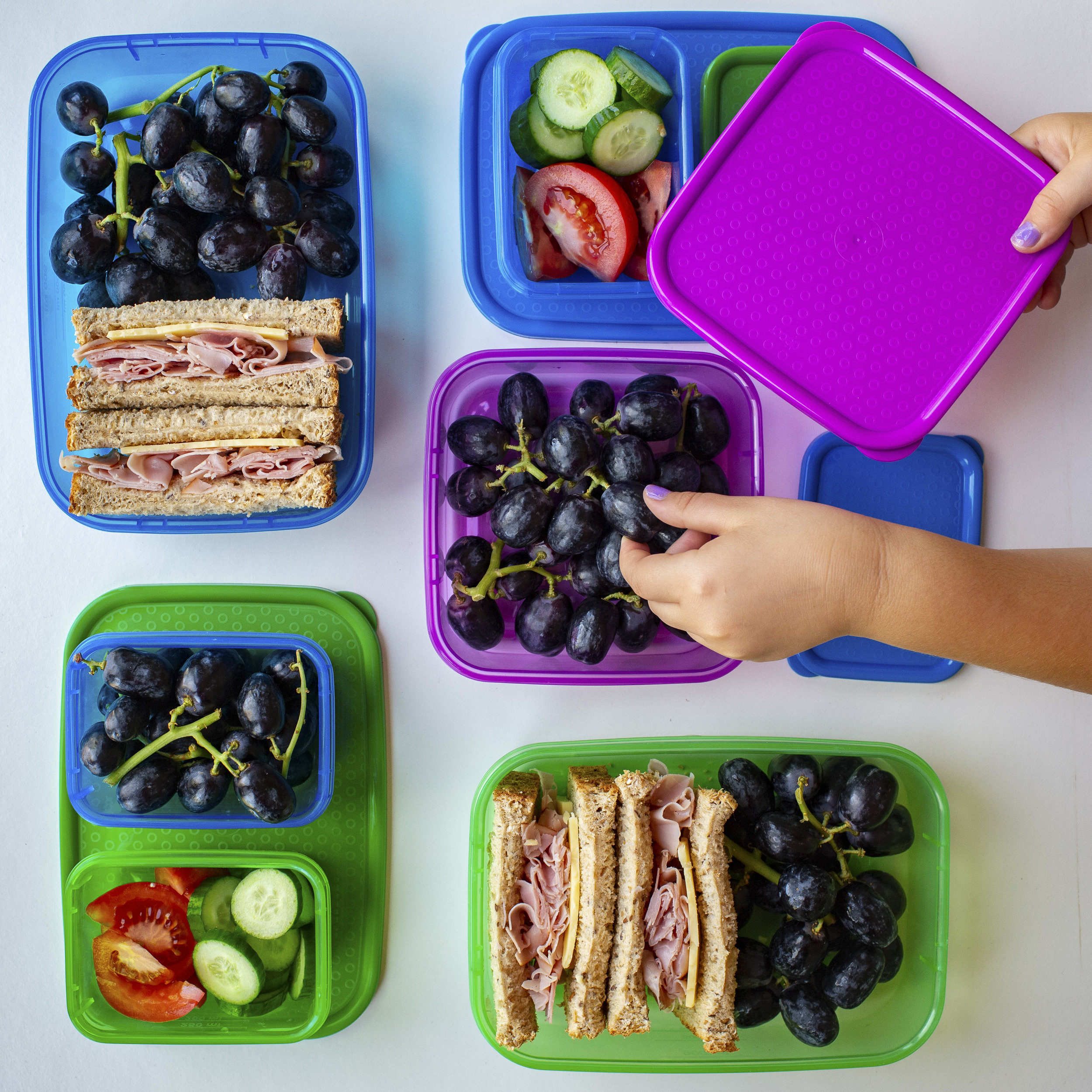 Lunchbox goals styling for Sunworld Grapes by Creatively Squared content creator Effi