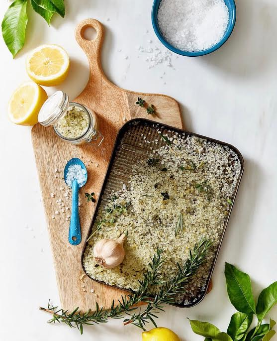 Add a sprinkle of salt or herbs. Food styling by Sacha Kann, Photography by Jess Bicknell