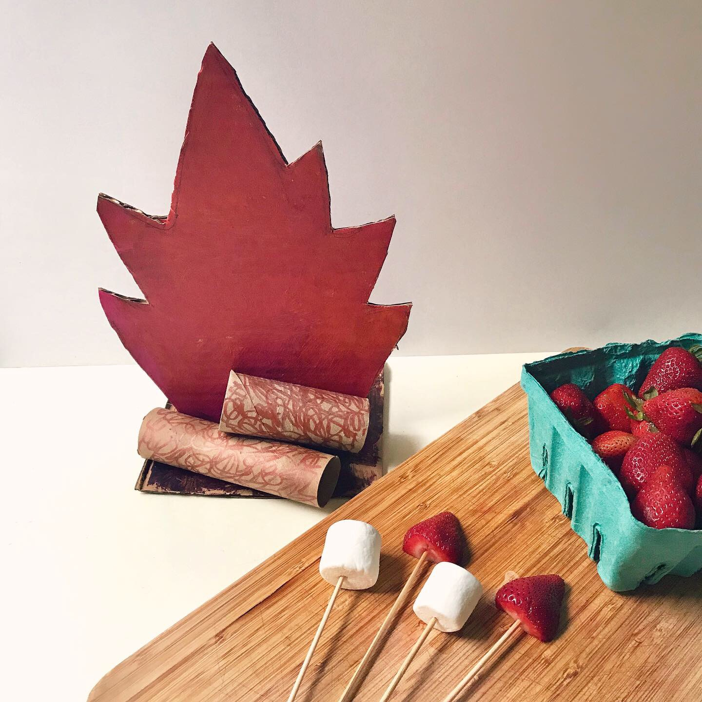 Campfire Craft creative activity for kids