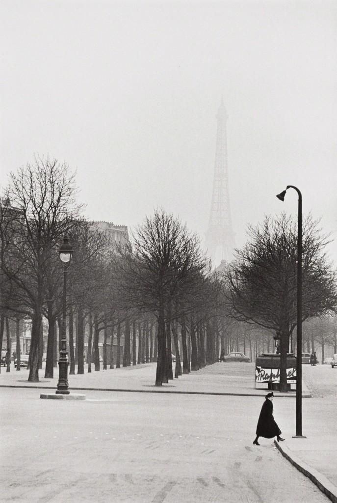 Henri Cartier-Bresson. Father of black and white street photography. Paris, circa 1955
