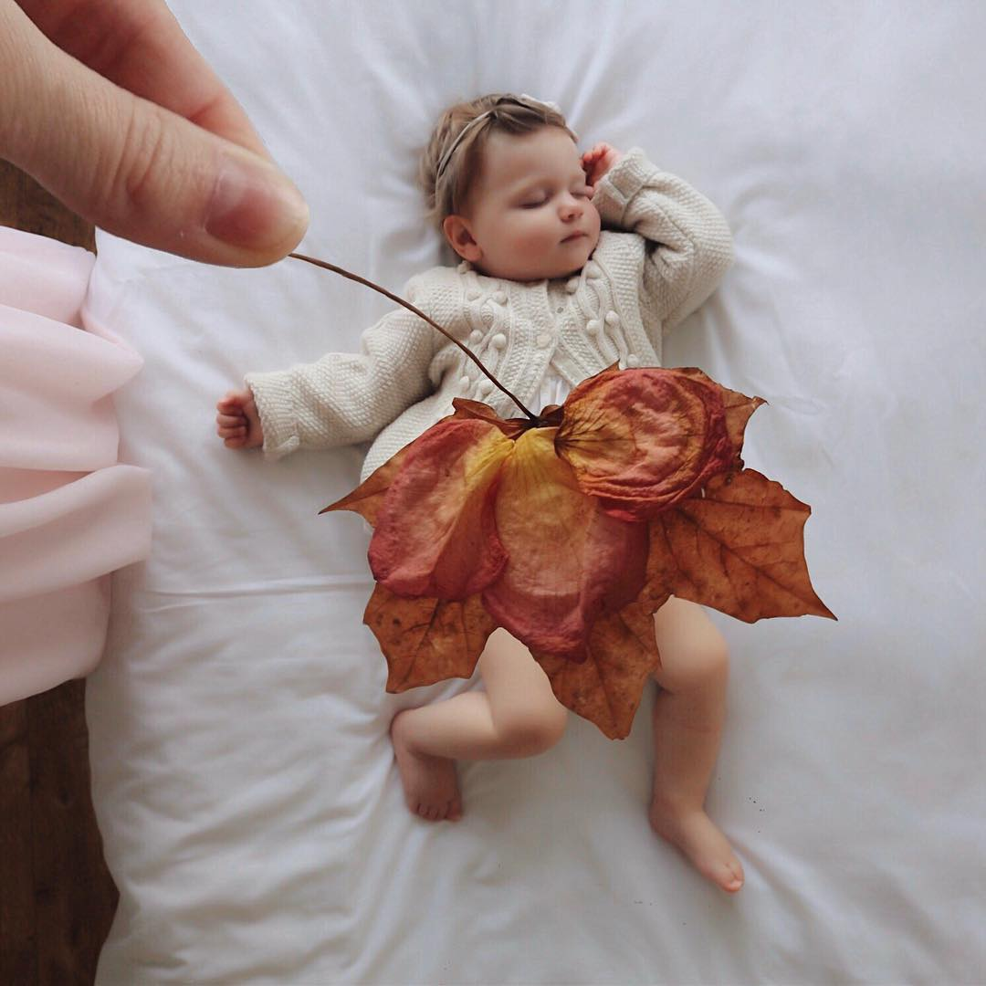 Or perhaps an autumn leaf as a skirt. Source:  @sienna.and.i