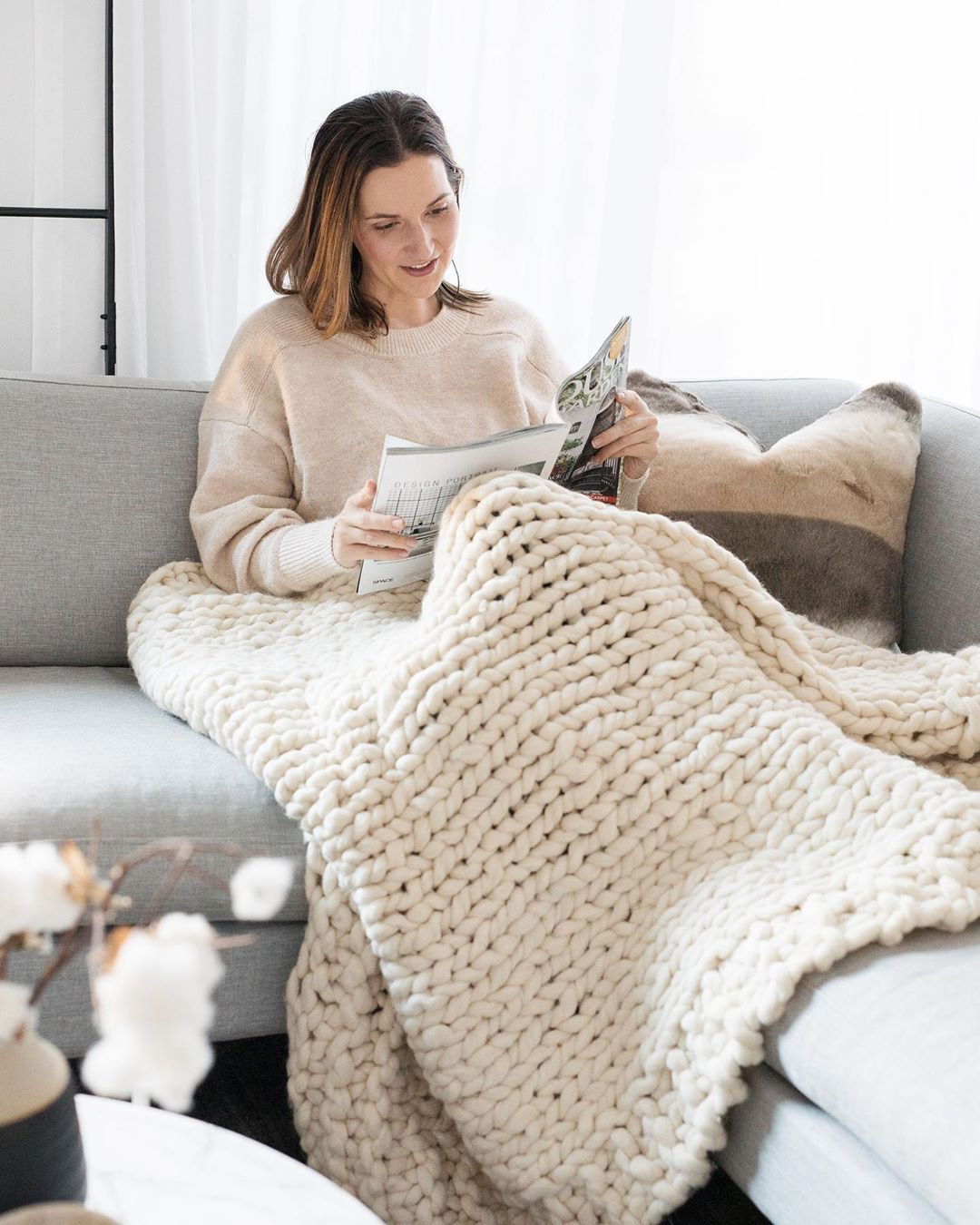 Gina looking cosy and at home. Source:  @stylecuratorau
