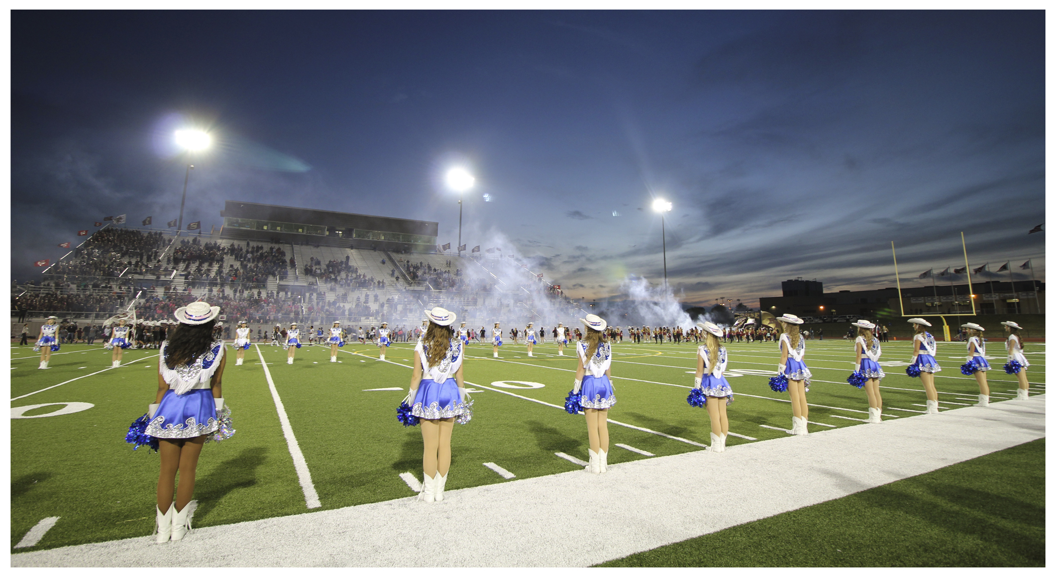 "This is probably one of my favorite pictures, I believe it truly captures ""Friday Night Lights""."