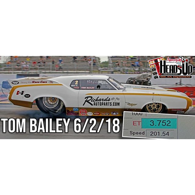 WOW! Tom Bailey is out here making absolutely INCREDIBLE passes tonight - 3.75 at 201MPH! You do NOT want to miss out on the extreme racing action going on now! #milandragway