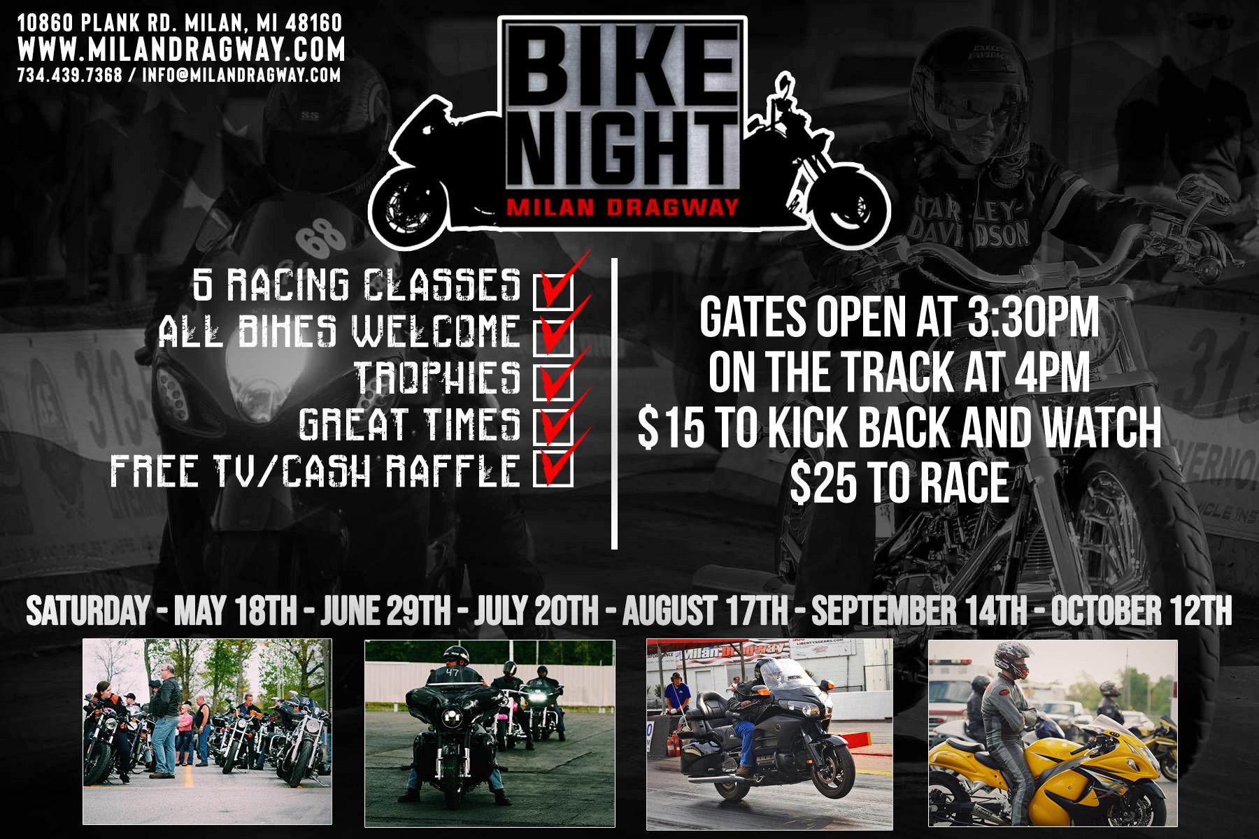 Racing Schedule — Milan Dragway