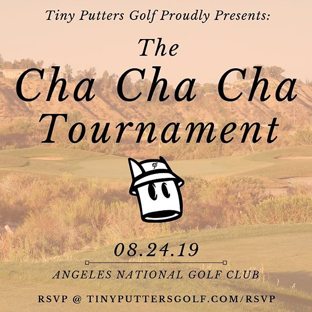 This one is a can't-miss! We're going big with a 72 player shotgun @angelesnationalgolfclub - 4 person format with the HIGHEST handicaps as captains. Let us show you why the future of golf is Tiny. 😉 Sign up through link in bio. #tinyputtersgolf #clubupandgetdown