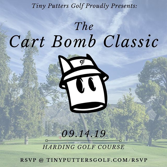 Next Saturday we're keeping it loose. Choose your own foursome. Choose your bets. Choose wisely. #tinyputtersgolf #clubupandgetdown