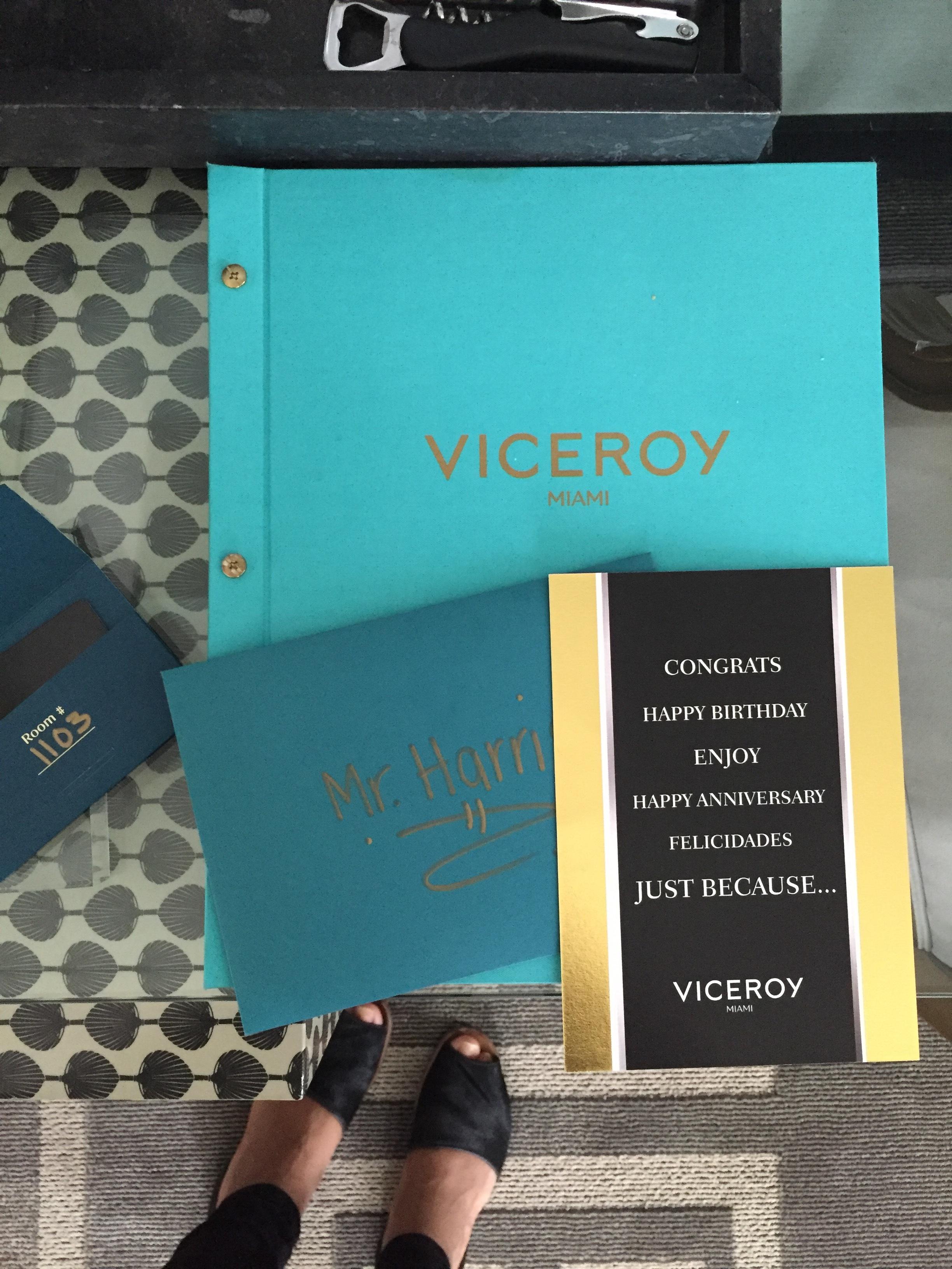 Viceroy Miami Anniversary Card