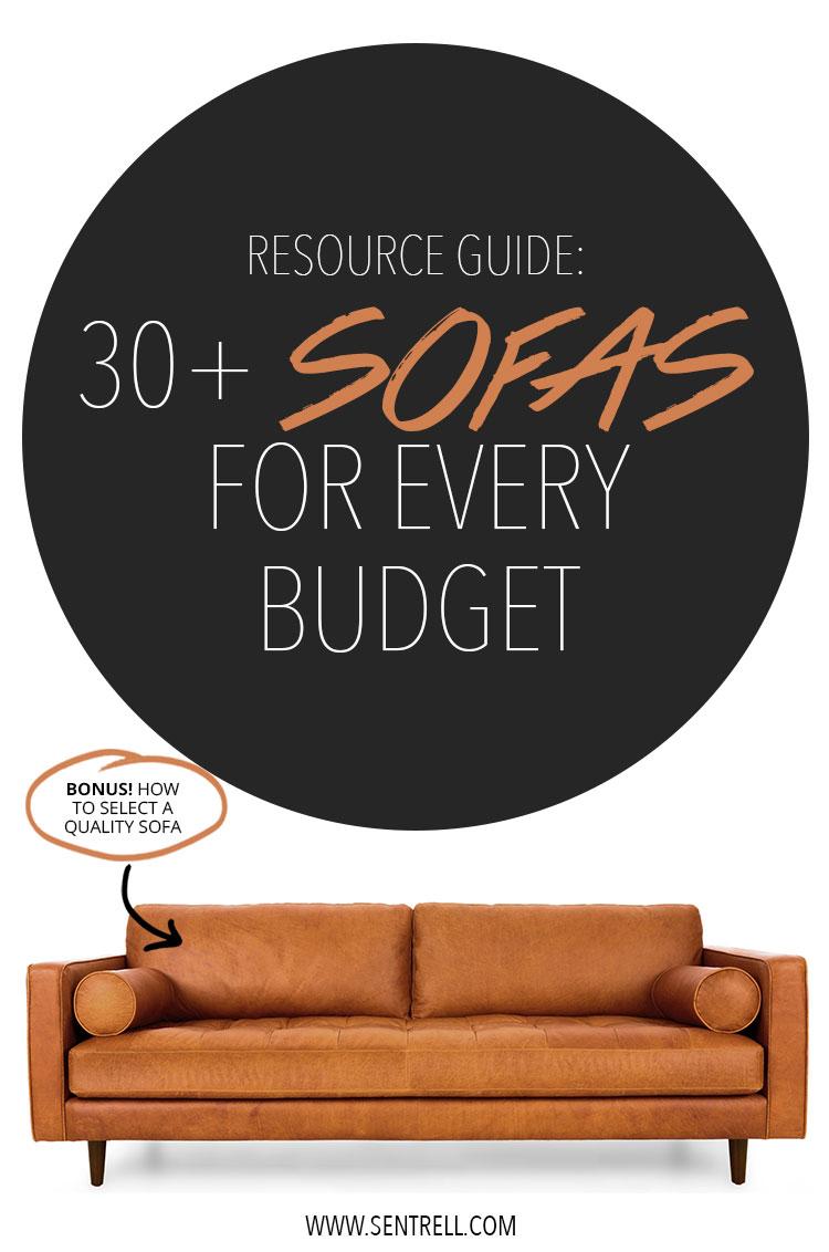 Sofa Resoure Guide: 30 Plus Sofas for Every Budget