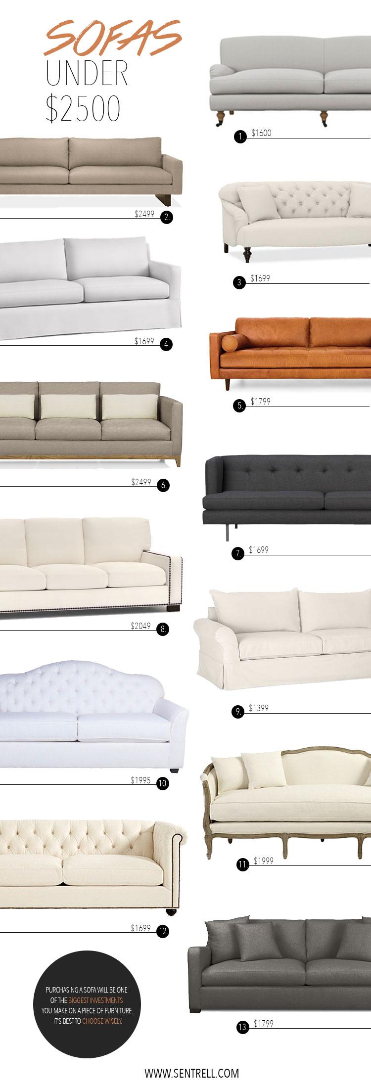 Sofas Under $2500