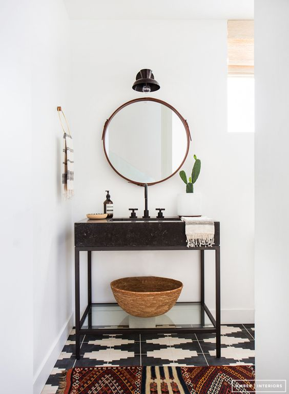 Amber Interiors Powder Room
