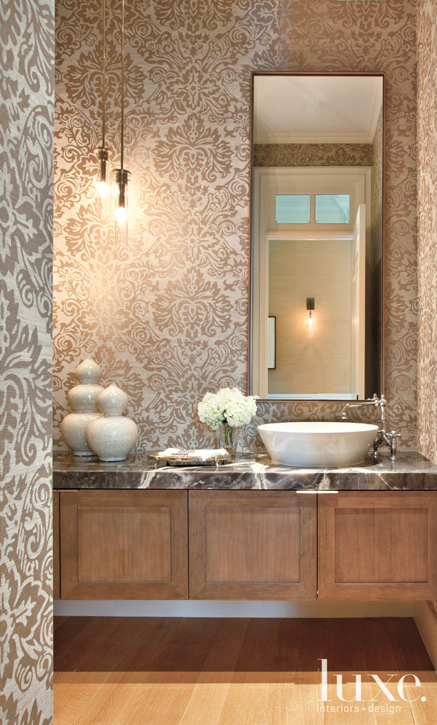 Onyx Countertop Powder Room