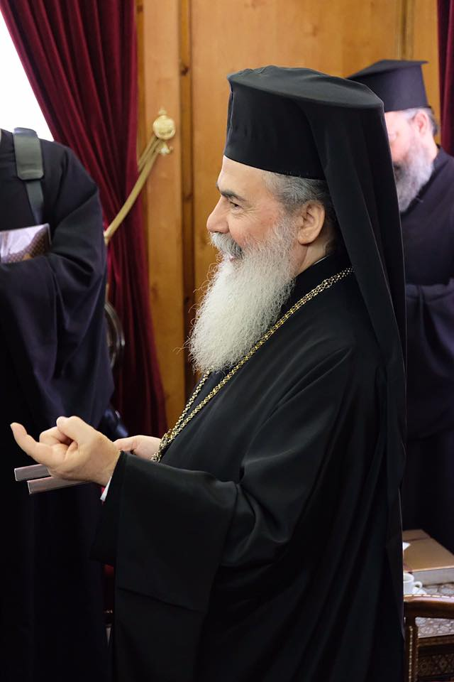 His Beatitude Patriarch Theophilos III   Our parish family was blessed to be in the presence of the head of one of the oldest Orthodox Patriarchates in existence. We celebrated together with Beatitude for the feast of St. Michael the Archangel in Jaffa, were present for the anniversary of His enthronement near the Tomb of Christ, and were blessed to have a private meeting with his Beatitude at the end of our trip.