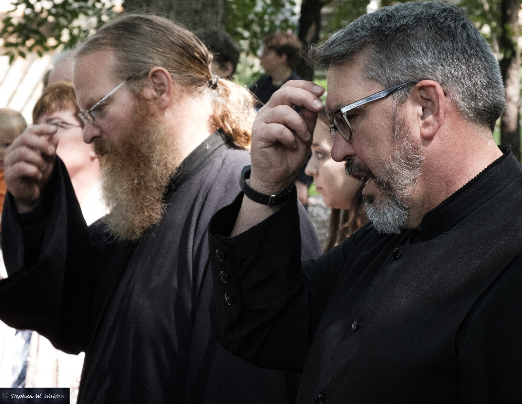 Our own Dcn. Michael Schlaack, and Dcn. Timothy Kolb (visiting us from St. Tikhon's) participated in the blessing, which was held in front of the Shrine located on our beautiful parish property.