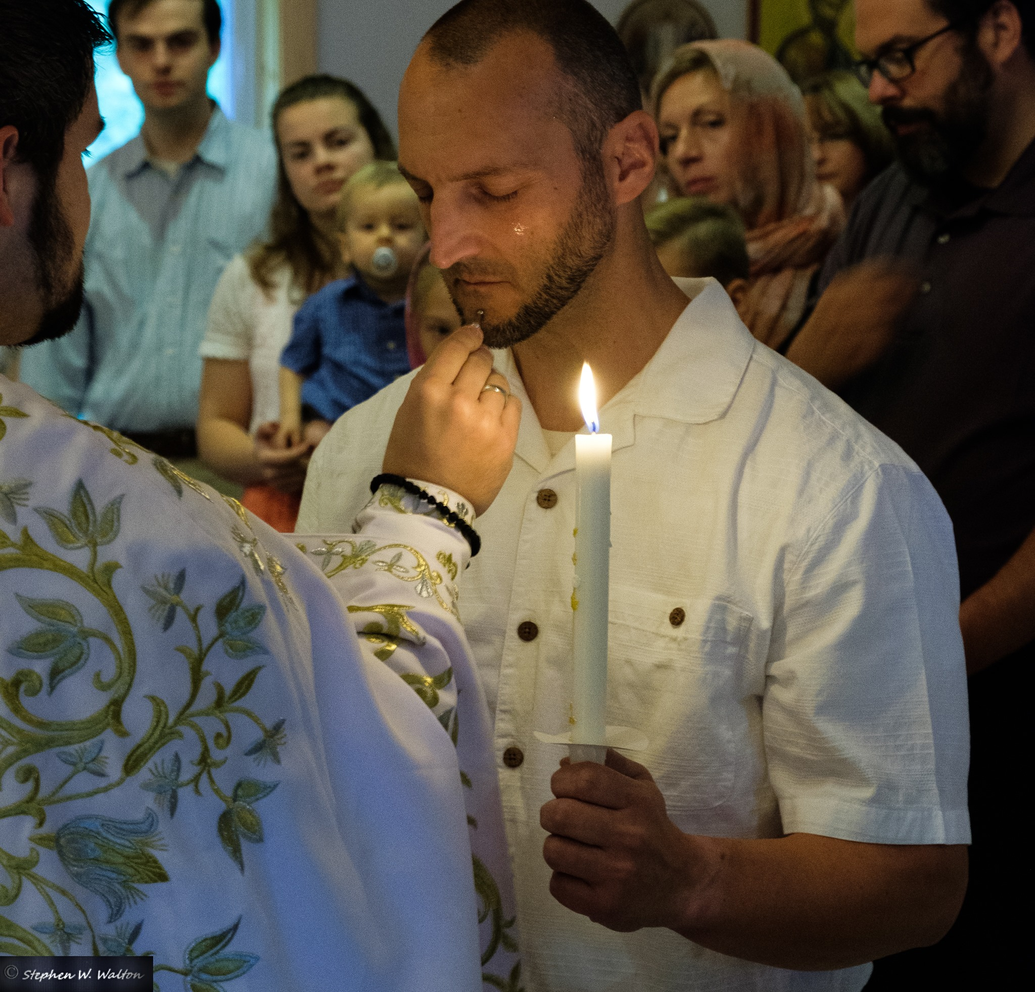 Theophan receives the sacrament of Holy Chrismation, with Chrism that has within it oil which dates back to the first centuries of the Christian Church