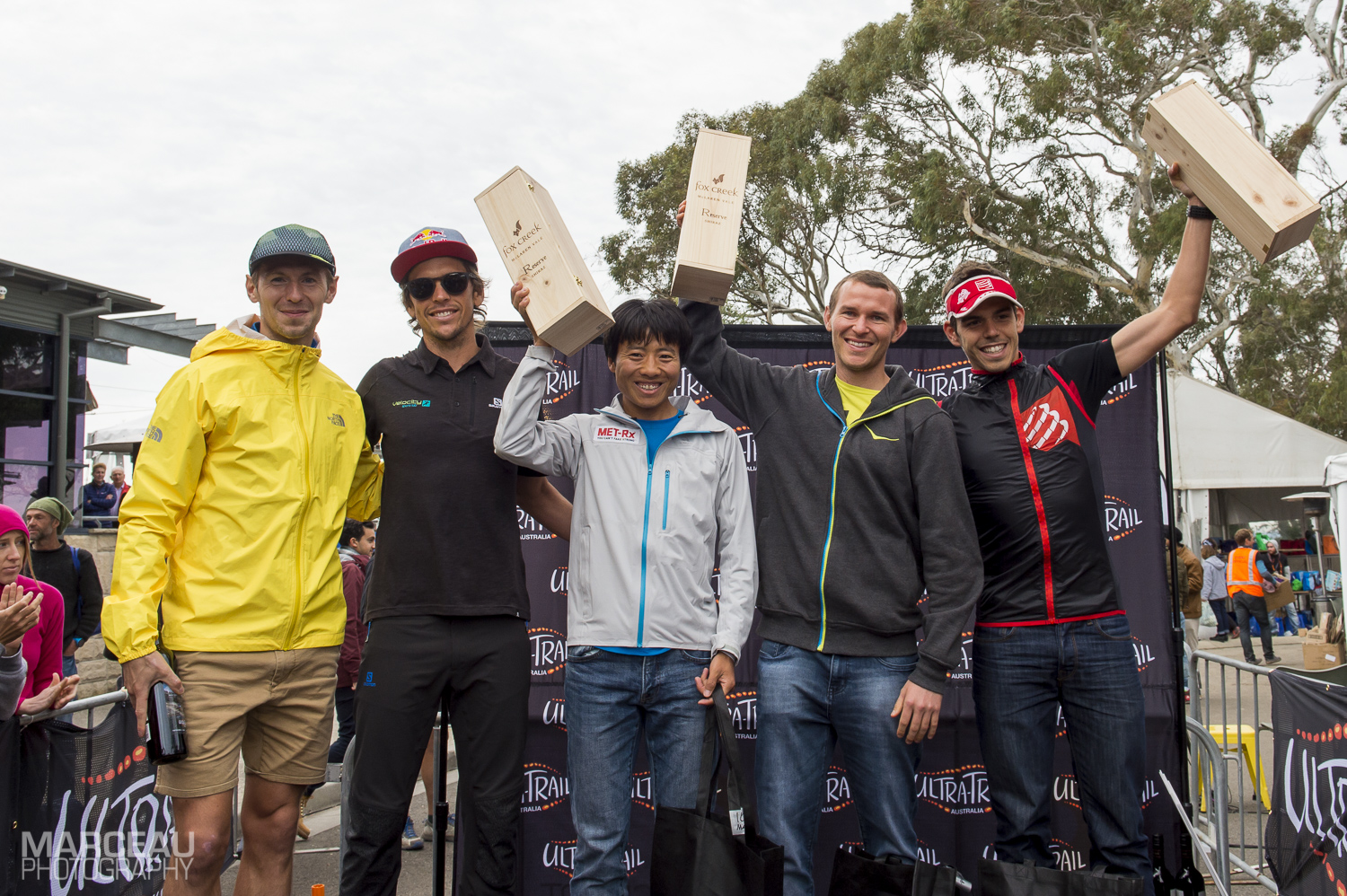 From the left: Andrius Ramonas, Ryan Sandes,Yun Yanqiao,Ben Duffus and Pau Capell