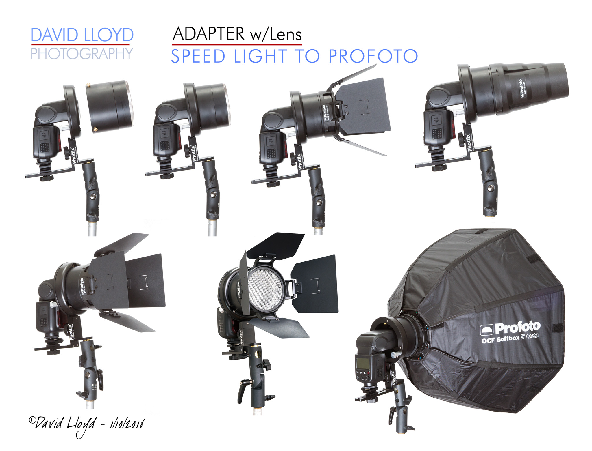 The above photo artwork shows the direct interface with the Profoto OCF Light Modifiers.