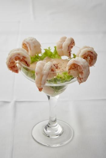 Cocktail di gamberi in salsa aurora