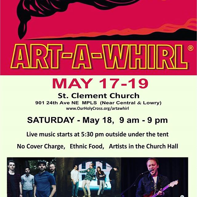 Super excited to be playing at Art A Whirl this Saturday at St. Clements along with @bennoblemusic and @alyaleighamusic . We'll be playing a special stripped down set along with debuting a new song of ours!