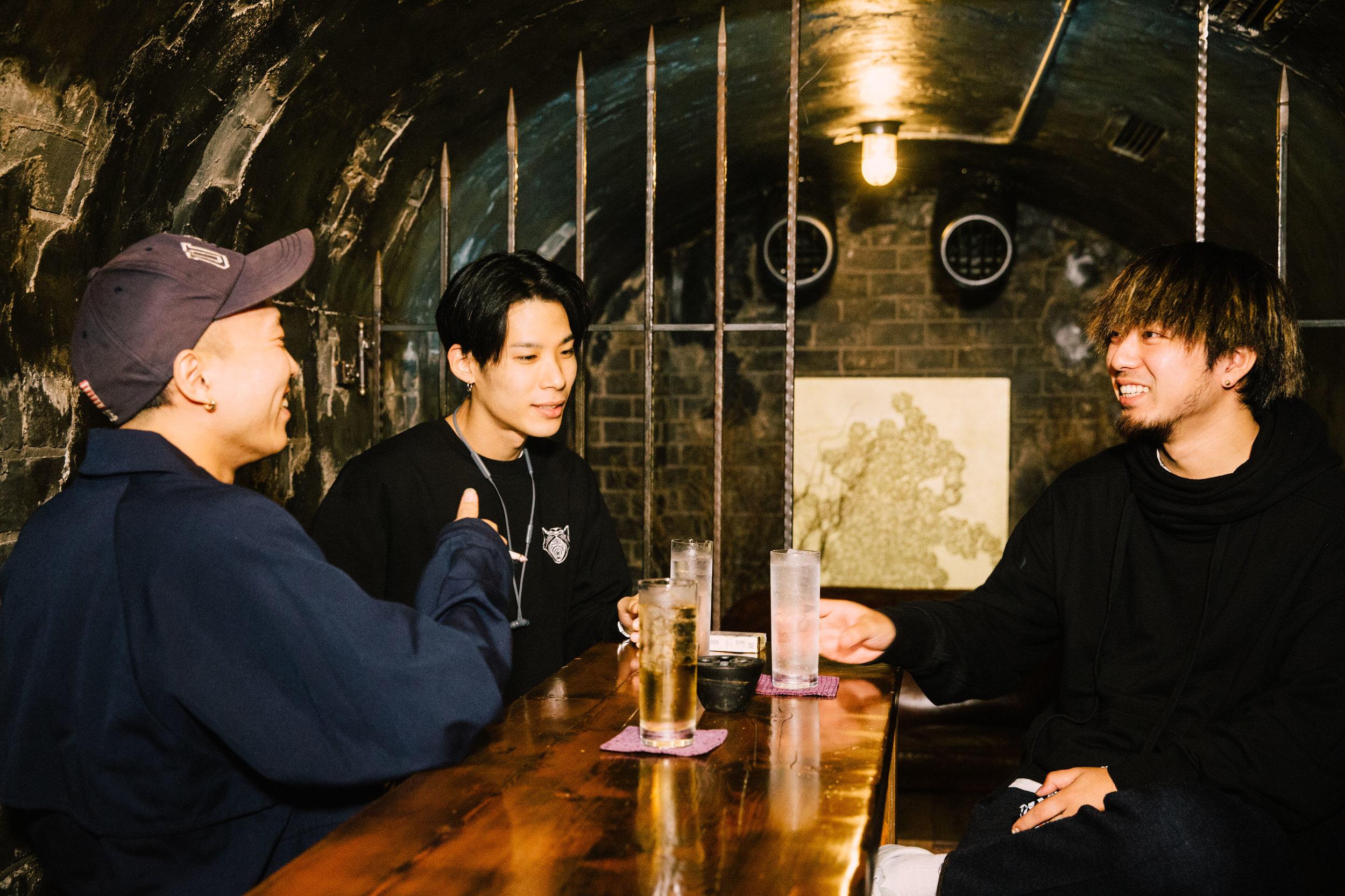 左から Sweet William / Jinmenusagi / 荒田洸(WONK)