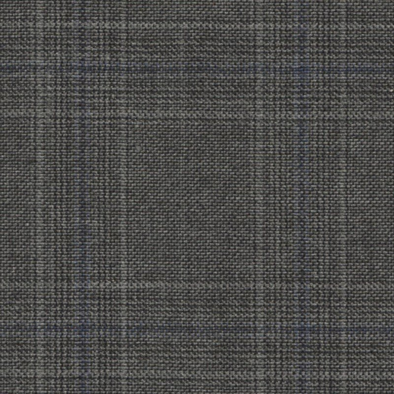 Deep Grey Blue Glencheck