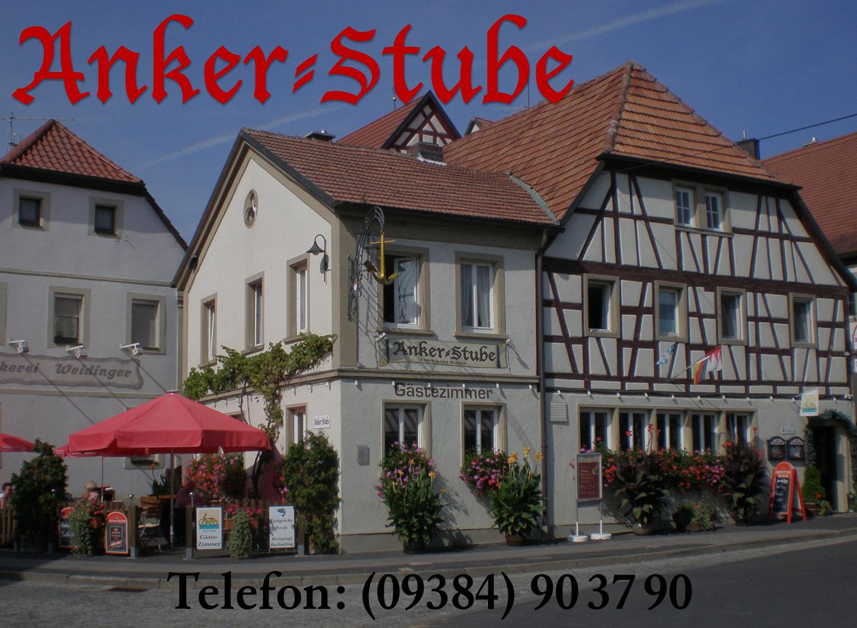 Gasthof Ankerstube in Wipfeld (Landkreis Schweinfurt in Unterfranken)von unseren Freunden Jutta und Klaus - www.ankerstube.net