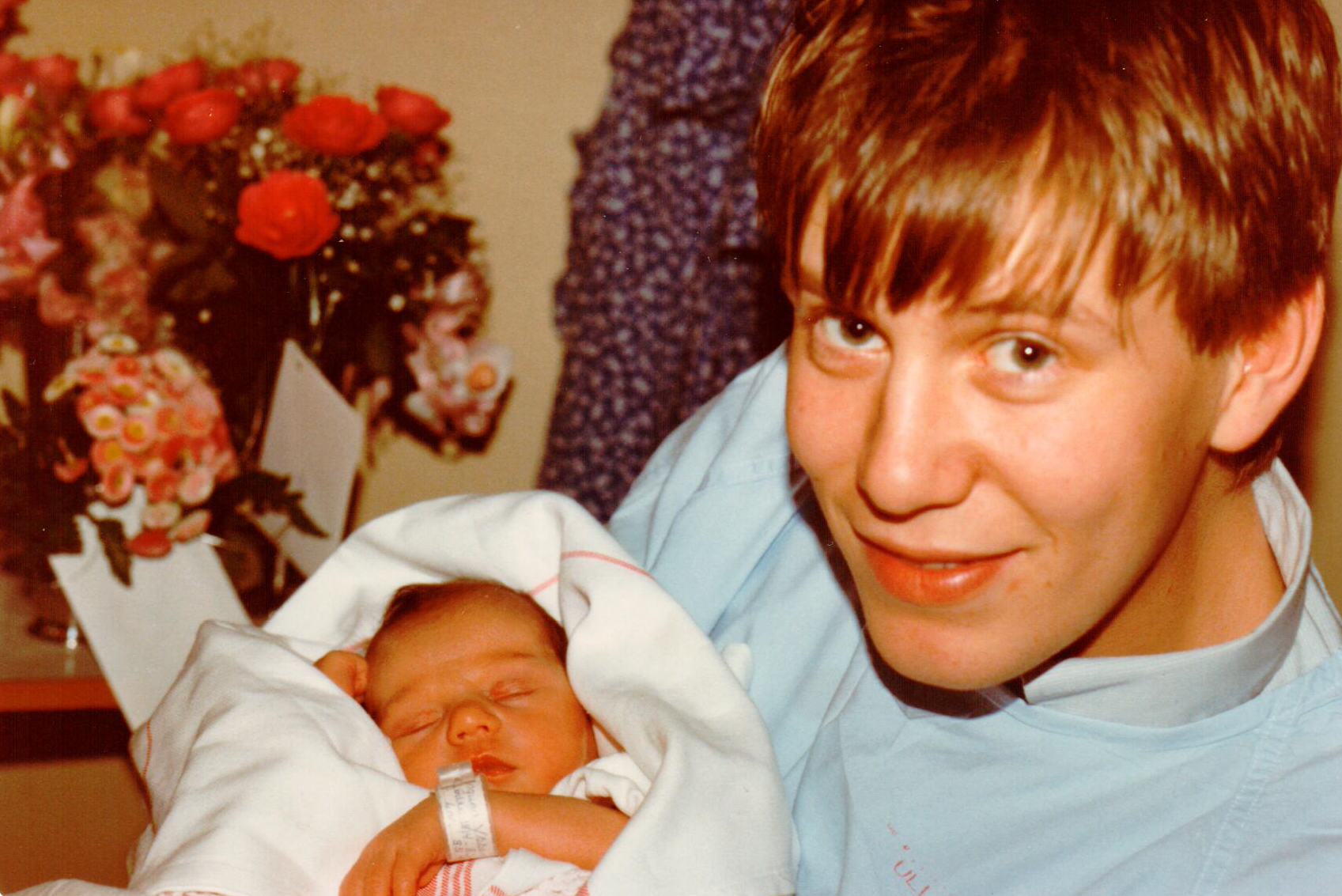 A younger Kjetil Try together with his crucial turning point aka. his daughter.
