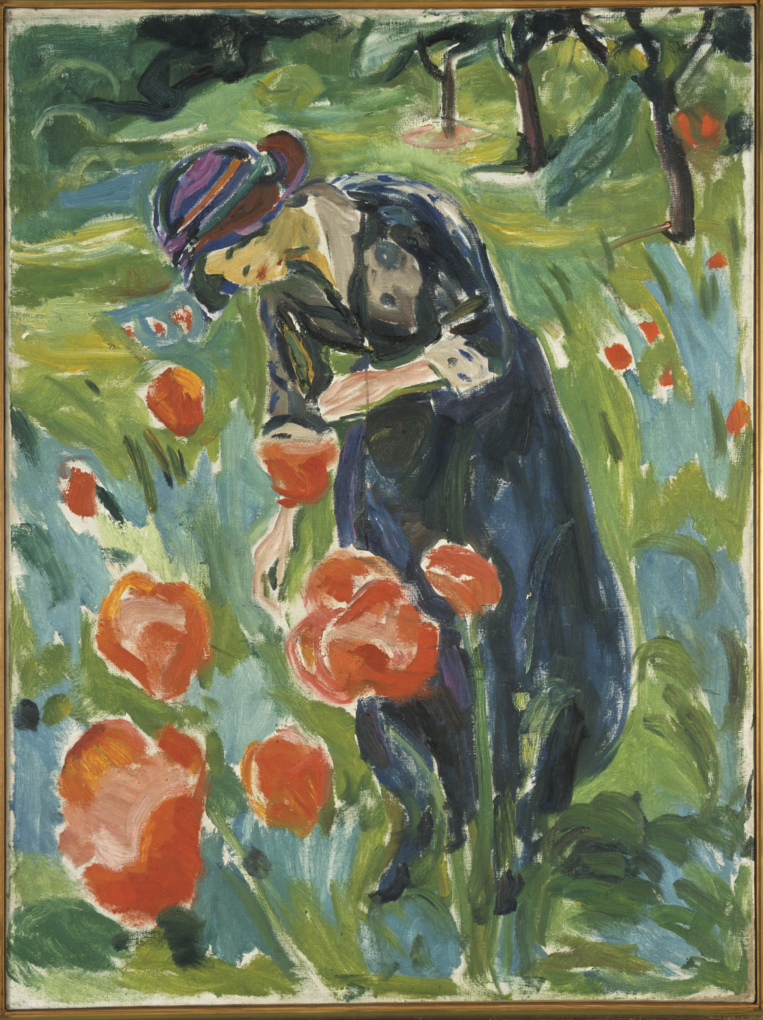 Woman with Poppies, 1918-19 ©Munchmuseet