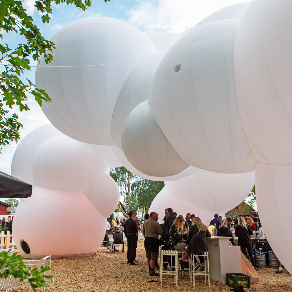 The first outtake of the idea and design: the inflatable pavilion, 2016.