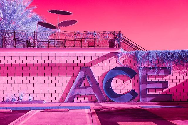 "Palm Springs on 80s American acid 💕 @kateballis transformed her artistic muse, Palm Springs, CA, into something more than a desert town in her series Infra Realism. ""Perhaps, this series is a way of finally attaining the dreamland we were sold in the 80s."" Check out the showcase in our latest issue — or on the site today!"