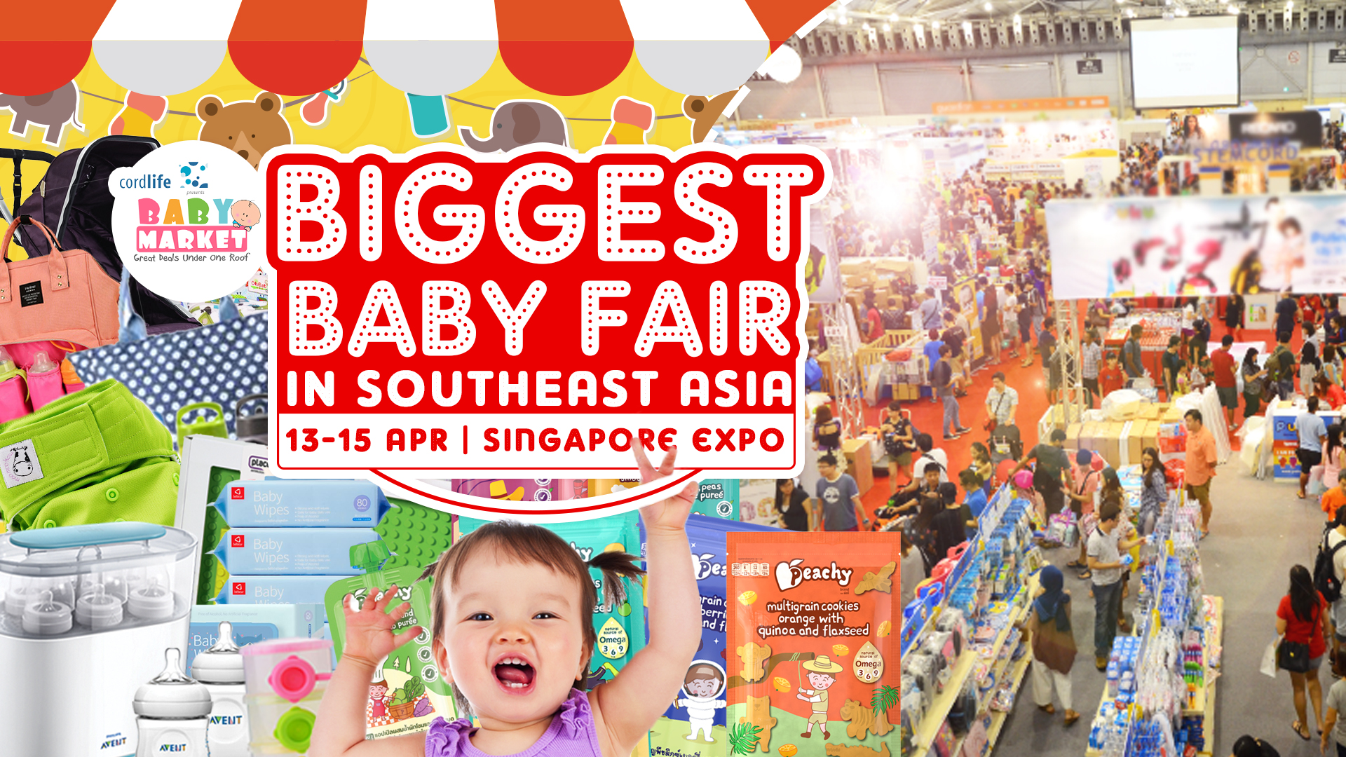 We will be participating in the BIGGEST baby fair! It runs through 13th - 15th April at the Singapore EXPO.