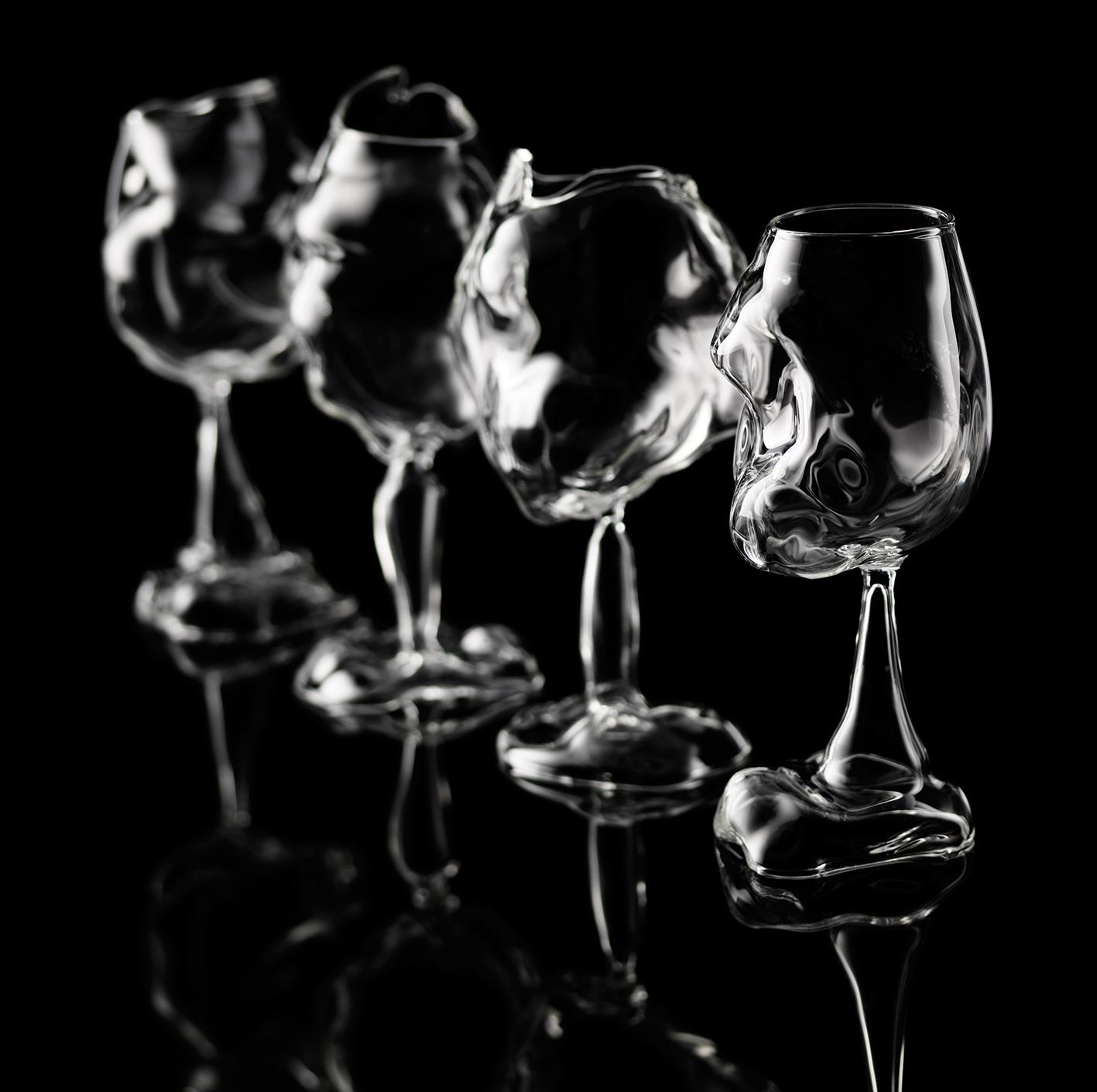 Crossfire Wineglass series  Borosilicate Glass, Lampwork  2010  Corning Museum of Glass Collection, Cincinnati Art Museum