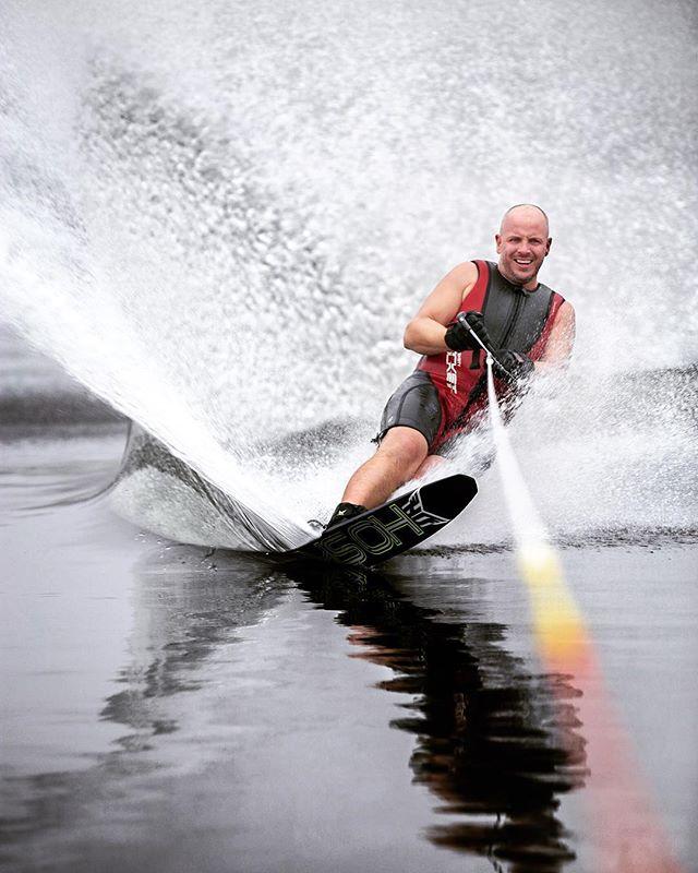 My brother on Cdn Thanksgiving.  #waterskiing #lakelife #hesafool #hesmybrother