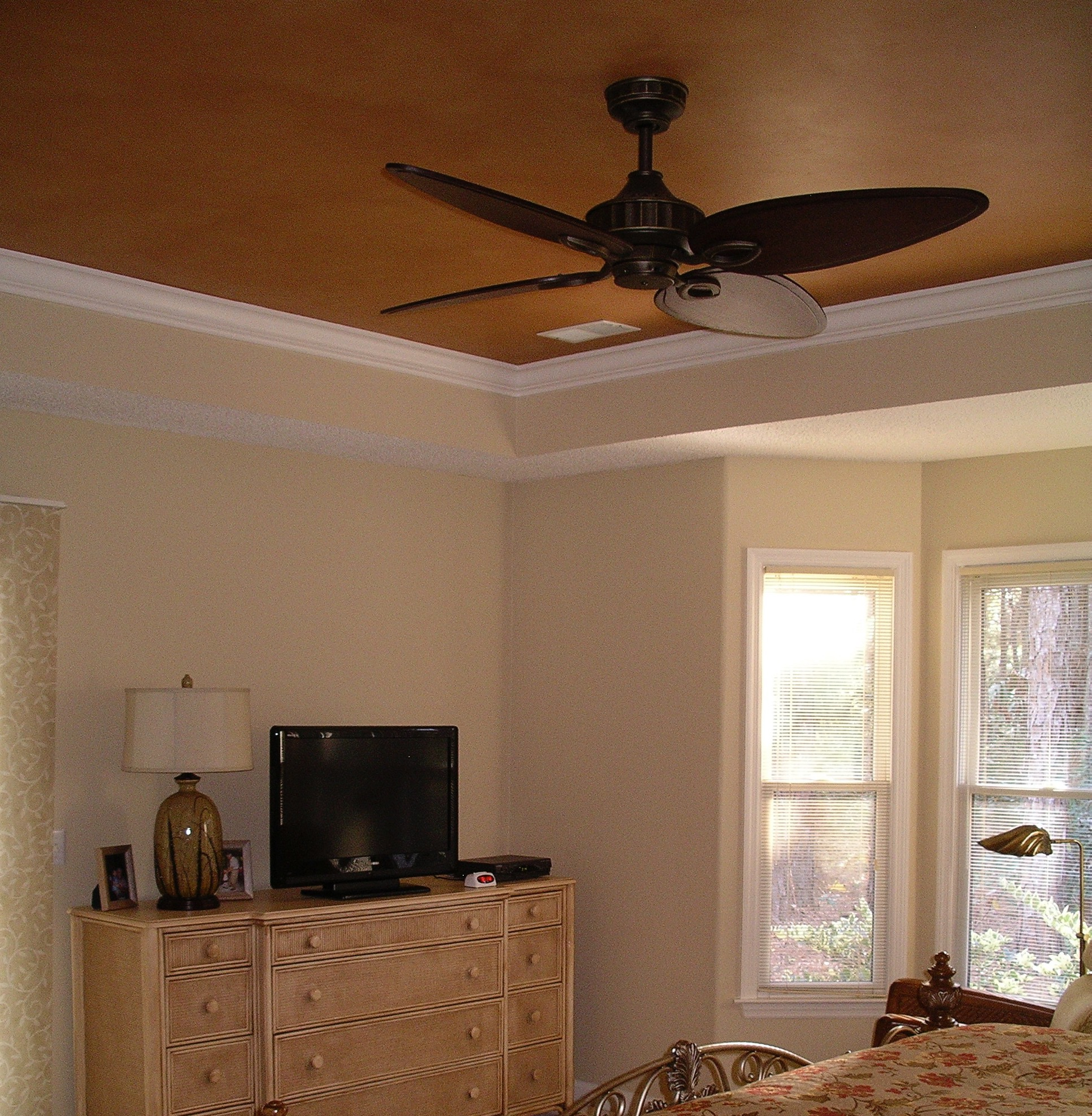 Master Bedroom Ceiling Painted Gold