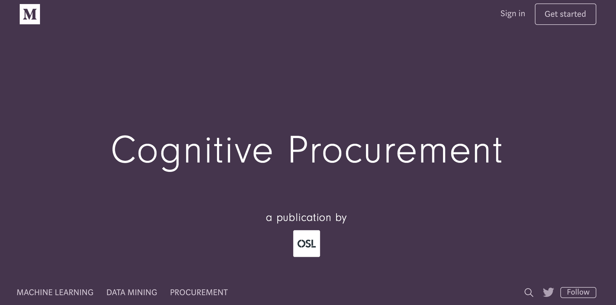 Blogging - Cognitive Procurement   -