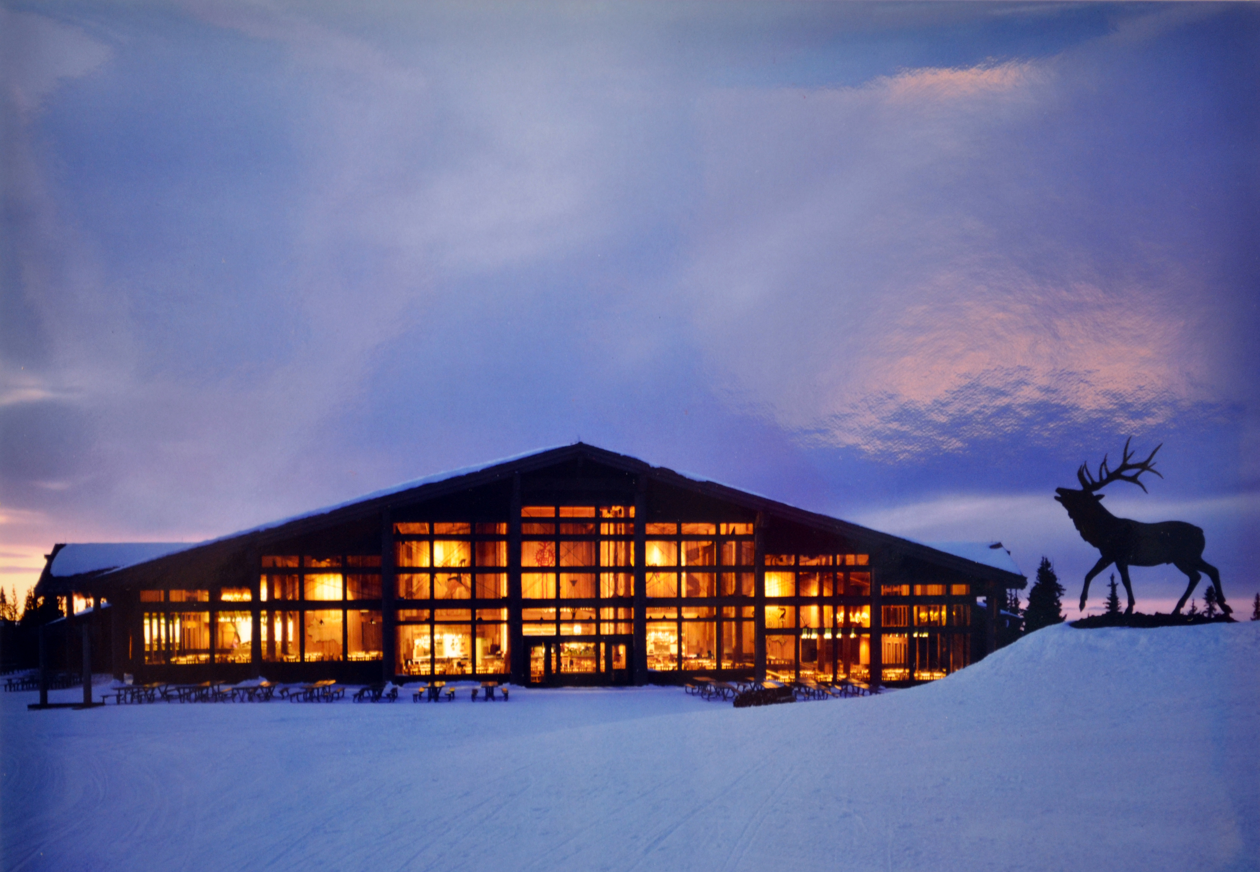 Hyder built the original Two Elk restaurant for Vail Resorts in 1991 and again in 2000 after the original had burned down