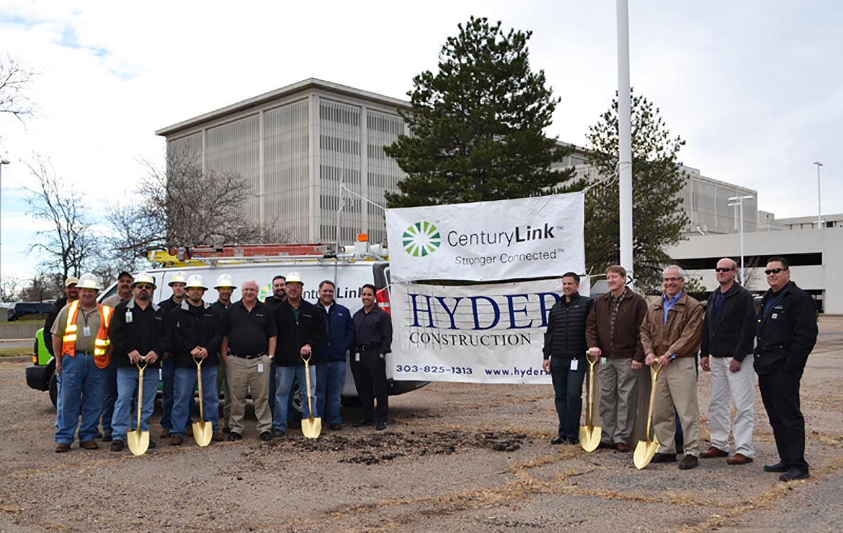 Hyder breaks ground on CenturyLink's new Crew Building   February 2, 2012