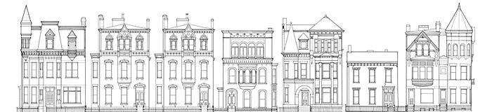 Chapline Street Row Historic District, Wheeling, WV, Mark L. Hall, Ed Freeman, ca. 1976.Source: Library of Congress.