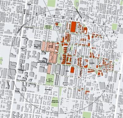 Transit-oriented street grid plan