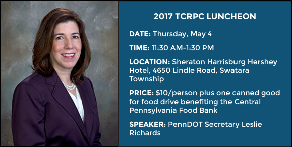Luncheon information and picture of PennDOT Sec. Leslie Richards
