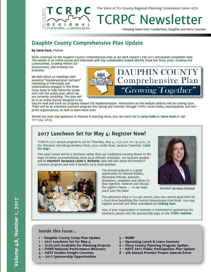 TCRPC March 2017 Newsletter Cover