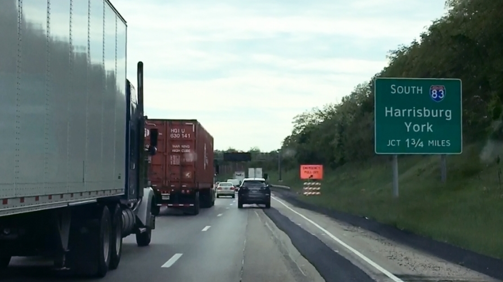 I-81 South congestion, Dauphin County