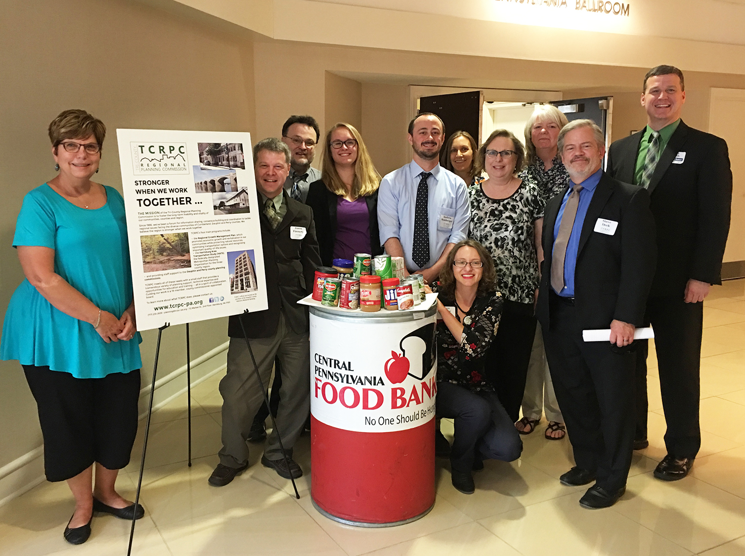 Thanks to everyone who donated to the food drive benefiting the Central PA Food Bank at our annual luncheon on May 3. You brought 168 pounds of food -- enough to put 140 meals on local families' tables!