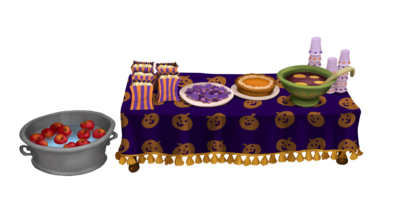 Halloween Table Spread