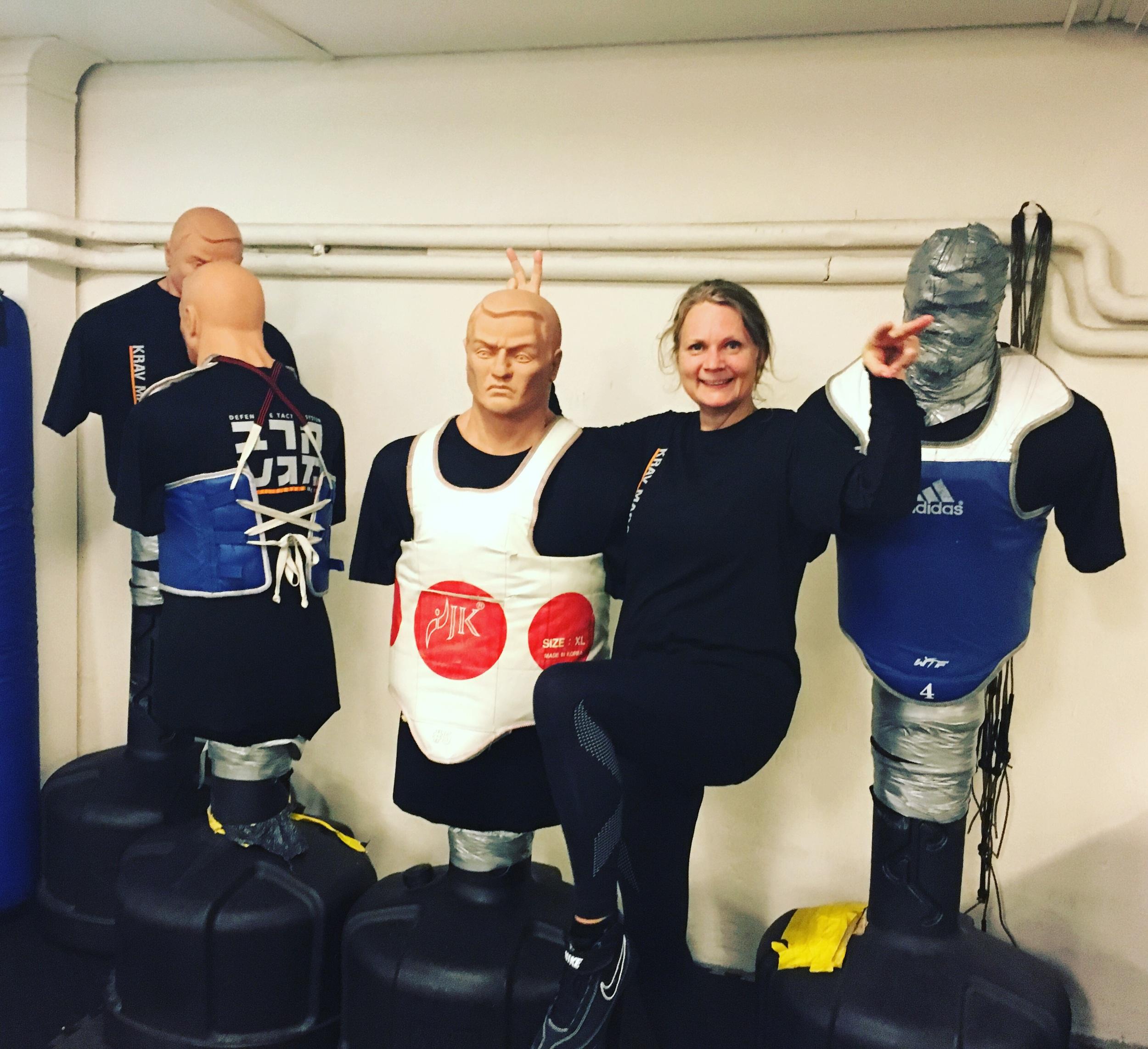 Jag och några av mina nya träningskompisar.